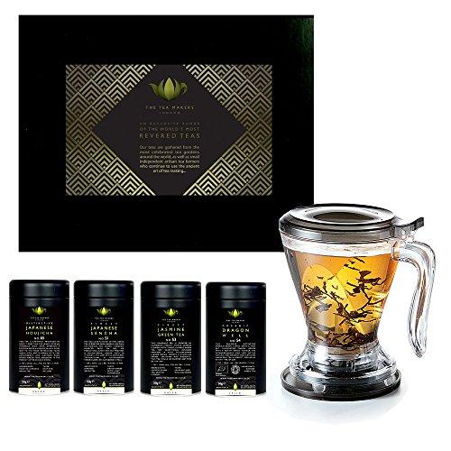 Verde-Set regalo da tè con infusore a uovo, 4 x 50 g, inkl. Filter