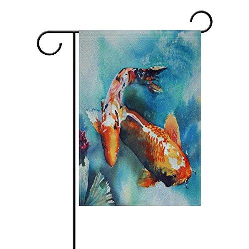 LIANCHENYI Japanese Koi Fish Swimming doppelseitig Familie Flagge Polyester Outdoor Flagge Home Party Decro Garten Flagge 30,5x 45,7cm (Koi-saison)