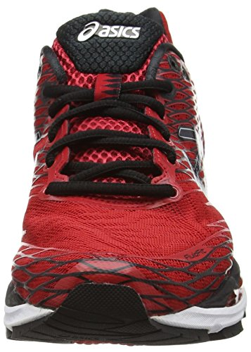 Asics Gel-Nimbus 18, Chaussures de Running Compétition Homme Rouge (racing red/black/silver 2390)