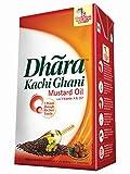 #4: Dhara Kachi Ghani Mustard Oil Tetra Pack, 1L