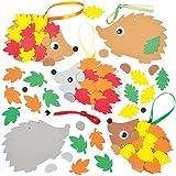 """Bastelset für Deko-Anhänger """"Igel"""" für Kinder zum Selbermachen – ideal ALS Herbstdeko (5 Stück)"""