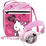 Hello Kitty - Pack de accesorios para tablet (incluye bolsa, auriculares, lápiz digital) (Ingo Devices HEA025Z)