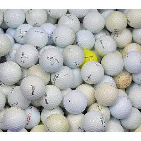 Second Chance, Palline da golf di seconda mano, Qualità AA (grado B), diverse marche, 500 pezzi, Bianco (weiß), Taglia unica