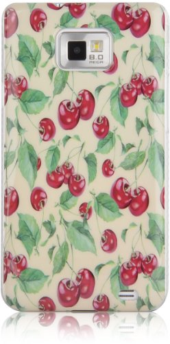 JAMMYLIZARD | Custodia Vintage Cover Retrò per iPhone 4 e 4S CUPCAKES Rosso