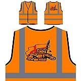 Caballero retro con el regalo de Inglaterra de la Chaqueta de seguridad naranja personalizado de alta visibilidad f741vo