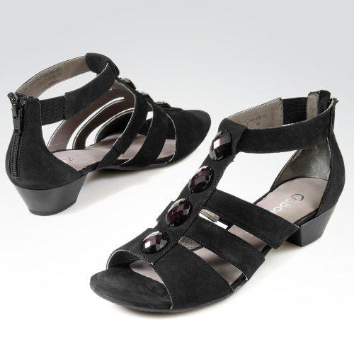 ... Gabor Shoes 24.552.21 Damen Knöchelriemchen Sandalen Schwarz ... 7493db5bbf