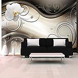 murando - Fototapete 350x256 cm - Vlies Tapete - Moderne Wanddeko - Design Tapete - Wandtapete - Wand Dekoration - Abstrakt Blumen Orchidee a-A-0081-a-a