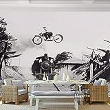 Knncch Foto De Papel Tapiz Personalizado Europa Tren Retro De La Moda 3D Mural Salón Cafe Wallpaper Mural Dormitorio Decoración Del Hogar Wallpaper-450X300Cm