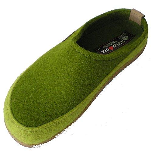 Haflinger Unisex-Erwachsene Flynn Pantoffeln Grün