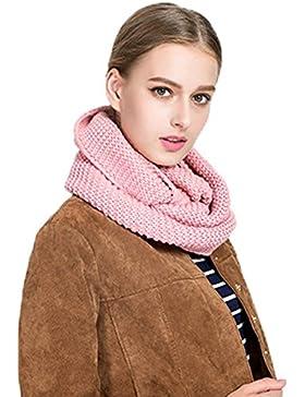 Bufanda de las mujeres, bufanda del cuello de las mujeres bufanda hecha punto de las bufandas del color sólido...