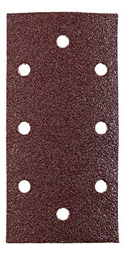 kwb Quick-Stick Schleifpapier - für Schwing-Schleifer K 40, K 80, K 240, für Holz und Metall, 93 mm x 187 mm, Edelkorund, gelocht mit Klett (10 Stk.)