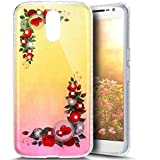 Paillette Coque pour Moto G4,Moto G4 Coque en Silicone Glitter, Moto G4 Silicone Coque fleurs de cerisier roses Housse Transparent Etui Gel Slim Case Soft Gel Cover, Ukayfe Etui de Protection Cas en caoutchouc en Ultra Slim Paillette Bling Diamant Strass Brillante Coque Souple Cristal Clair Gel TPU Bumper Cas Case Cover Coque Couverture Etui pour Motorola Moto G4