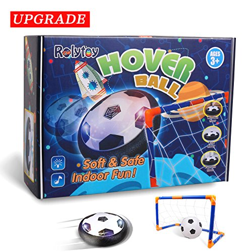 Hover Ball Calcio Konomio Pallone da Calcio Air Power Soccer Toy Disc LED Musica Giocattolo Football con Soccer Gate Scopo di Calcio Divertente Regalo Giocattoli Sportiviper Bambini 3 4 5 6+ Football Gioco Indoor & Outdoor Air Power Soccer Disco