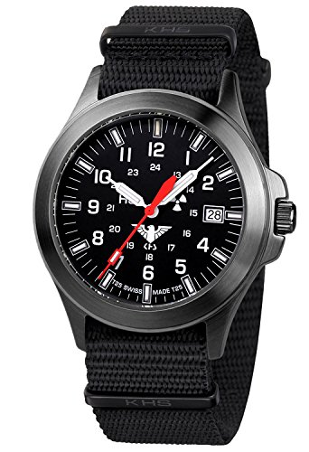 KHS Tactical Mens Watch Black Platoon Titan KHS.BPT.NB