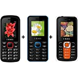 I KALL 1.8 Inch Display Dual Sim Mobile Combo Power Pack Of Three Mobile- K55 Red+ K66 Blue+ K99 Orange