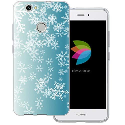 dessana Weihnachten Pattern transparente Schutzhülle Handy Case Cover Tasche für Huawei Nova EIS Regen Nova Eis