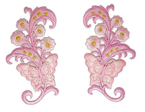 aar Blumen Blumenstrauß bestickt Aufnäher Bügelbild Cartoon Aufbügeln Aufbügeln Handarbeit Baby Kinder Mädchen Frauen Kleidung DIY Kostüm Zubehör ()