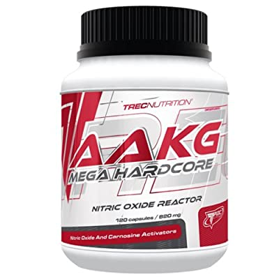 Trec Nutrition - AAKG Mega Hardcore 120 capsules / 30 portions - Nitric Oxide Reactor And Carnosine Activators by Body Creator