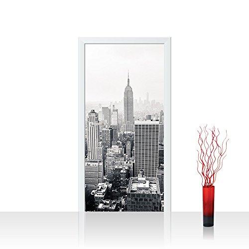 Tür Fototapete Türtapete 100x211 cm Türfolie selbstklebend o. Vlies PREMIUM PLUS - Tür Türposter Türpanel Foto Tapete Bild - New York City USA Amerika Empire State Building Big Apple - no. 118, Material:100x211cm Vlies