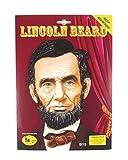 Herren schwarz falsch Falscher zum Aufkleben selbstklebend Abraham Lincoln American buschig Bart Kostüm Kleid Outfit Zubehör - Schwarz, One size