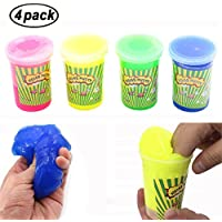 Swallowzy Noise Putty Slime Fart Mud Tricky Stress Relief Sludge Kids Toy (Pack of 4)