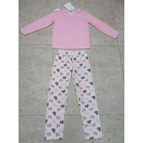 - 51Wtx0p7DRL - Ladies Cosy Soft Fleece Pyjama Gift Set PJs Long Top & Bottoms Womens Nightwear