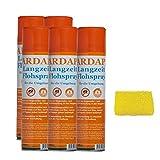 5 x 400 ml Ardap Langzeit Flohspray für die Umgebung Quiko + Insektenschwamm