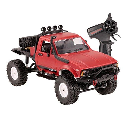 The perseids C14 4WD 1:16 Mini camión de Juguete Fuera de Carretera Control Remoto del Coche Regalo para niños (Rojo)
