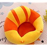 Okayji Cotton Baby Support Sitting Cushion Chair (Orange)