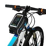 Fahrradtasche Rahmentaschen, Florally Fahrrad Rahmentasche Frarradschnalletasche Radfahren Rahmentaschen, Wasserabweisende Fahrradtasche , Steuerrohr Taschen Packung, Handy Handyhalterung, Navigation Halterung ,Kopf Schlauchbeutel, Oberrohr Fahrrad Handytasche, Halter Steuerrohr Taschen Packung für die meisten Arten von Smartphone, wie iPhone 7s 7 6s 6 5s 5c 5, Samsung Galaxy S7 S6 S5 S4 S3 Notiz Serie, Google Nexus 5 4 Pixel und GPS Gerät Bis zu 3,7 Zoll breit