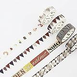 JSGDJD Klebeband 18 Stk/pack England Art Streifen Soldaten Ticket dekorative Washi Tape DIY Scrapbooking Maskierung Handwerk Band Schule Bürobedarf - 18 Stk/Pack