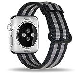 Efanr en nylon tissé Bracelet de montre de remplacement pour iWatch Apple Watch avec bracelet en tissu Band Bracelet Ceinture Bracelet Accessoires pour Smart iWatch