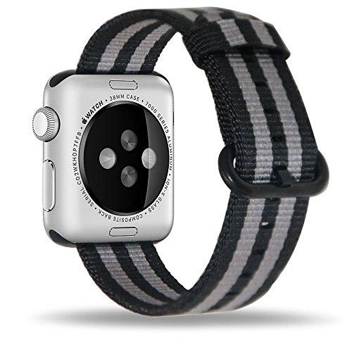 Efanr Tejido Nylon Reloj Banda Reemplazo para iWatch Apple Watch correa de tela banda pulsera brazalete cinturón accesorios para inteligente iWatch