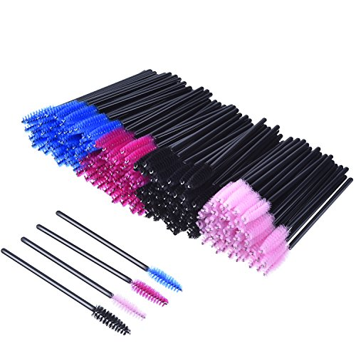 Scopri offerta per 200 Pezzi Monouso Spazzola del Ciglio Pennello Bacchette Mascara da Trucco Kit Spazzola Cosmetica Multicolore