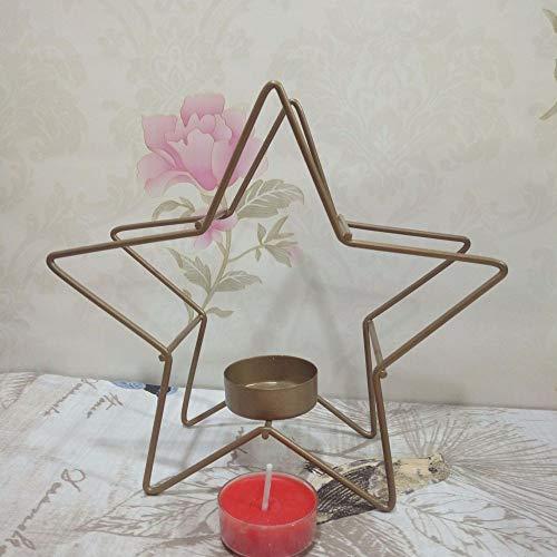 MMGC Candelabro artesanías Hierro Arte Estrella Cinco