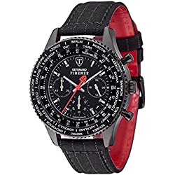 Detomaso Firenze Men's Quartz Watch with Suit Forza Di Vita Chronograph Quartz Fabric DT1071 E