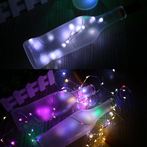 e Solar LED Flasche, Wein Flasche Kork geformte Lichterkette 119,4cm Cooper Draht 10LED Licht für Hochzeit Party Halloween Concert Festival Weihnachtsbaum Dekoration weiß (Outdoor-halloween-party Deko-ideen)