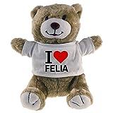 Multifanshop Kuscheltier Bär Classic I Love Felia beige