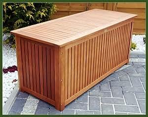 Gartentruhe gartenbox auflagenbox truhe aus edel holz for Garten pool xxl
