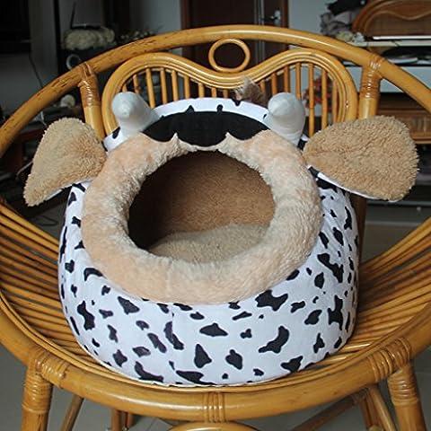 Vollter Bed cane Mat cucciolo Cuscino latte di mucca Cat House Pet coperta morbida Kennel caldo