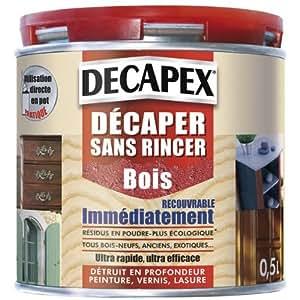 Decapant bois sans rincer 0l5 bricolage - Decapant peinture bois ...