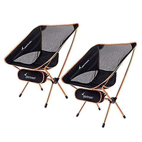 Camping Chair, Sportneer Portable Lightweight Folding Chair for Backpacking, Hiking,