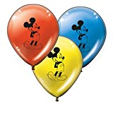 Verbetena, 014001168, pack 8 globos disney Mickey Mouse classic