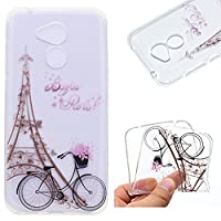 Huawei Honor 6A Smartphone Case,Ultra Slim Premium Soft TPU Silicone Case Transparent Flexible Lightweight Rubber Durable Back Shockproof Bumper Anti-Scratch Anti-Slip Grip Cover Protective Case for Huawei Honor 6A - Tower bicycles