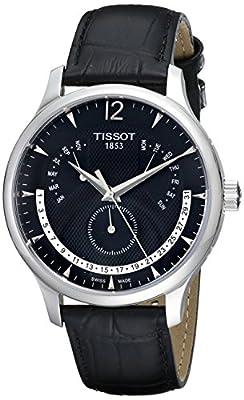 Tissot T0636371605700 - Reloj analógico de caballero de cuarzo con correa de piel negra