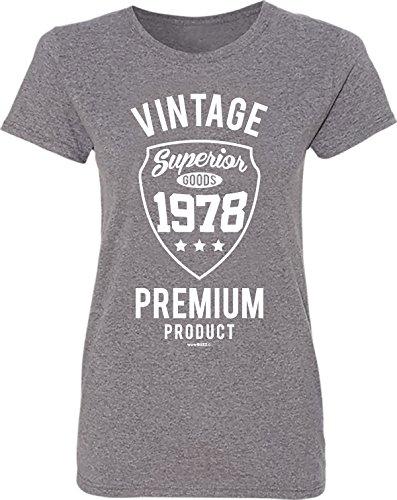 40th Birthday Gifts Geschenk Zum 40. Geburtstag Frau - Vintage Premium 1978 T-Shirt - 40. Geburtstag Geschenk für Frauen