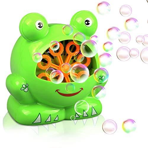 Gifort Automatisch Seifenblasenmaschine für Kinder Weihnacht Kindergeburtstag Geschenk für Hochzeit/ Deko/ Party (AAA Batterie und Seifenblasenwasser nicht enthalten) - Kraft 3 Gebläse