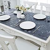 PVC-Transparente tischdecke,Wasserdicht Anti-verbrühende Isolierte Spitze Tischdecken,Couchtisch-untersetzer,Für Hotel Küche Partei-A 90x160cm(35x63inch) - 4