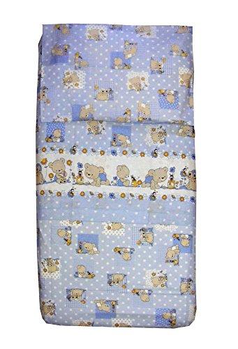 Completo lenzuola lettino orsetti pezzoli (azzurro)