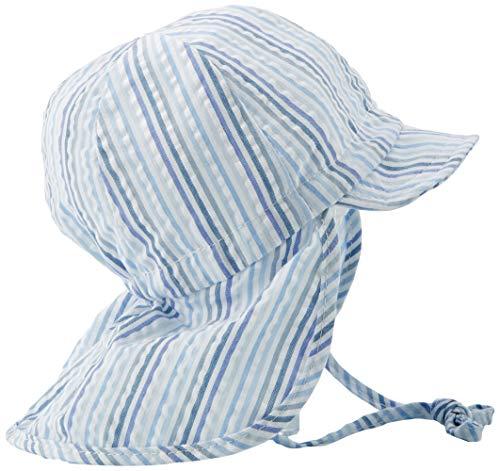 Döll Baby-Jungen Bindemütze mit Schirm und Nackenschutz Sonnenhut, Blau (Heather Blue 3090), 43